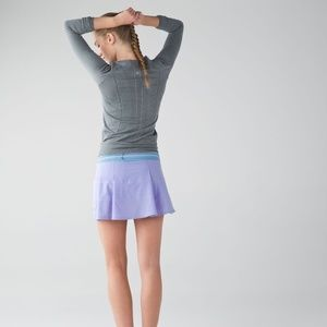Lululemon 8 Pace Rival Lilac twist blue skirt